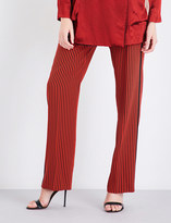 Etro Striped wide-leg silk-crepe jogging bottoms