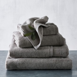 The White Company Waffle Edge Spa Towels, Slate, Bath Towel