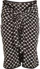 dodo bar or tasseled printed silk crepe de chine wrap mini skirt black