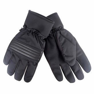 Kenneth Cole Reaction Men's Winter Nylon Fleece Warm Ski Gloves