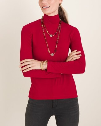 Chico's Long-Sleeve Mock-Neck Top