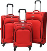 Air Canada 3 Piece Lightweight Upright Roller Suitcase Luggage Set