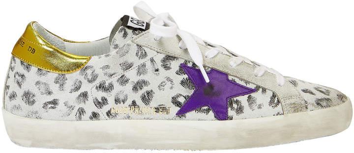 Golden Goose Superstar White Leopard Sneakers