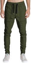 ITALY MORN Men Chino Cargo Jogger Pants Casual Sweatpants Twill Khakis Slim fit XL