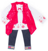 Little Lass 3-pc. Pant Set Baby Girls