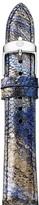 Michele Twilight Blue Metallic Lizard Watch Strap, 18mm