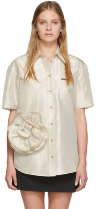 Miu Miu Off-White Taffeta Rose Shirt