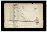 Oliver Gal 'Golden Gate Bridge 1933' Framed Art Print