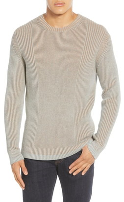 French Connection Regular Fit Plaited Crewneck Sweater