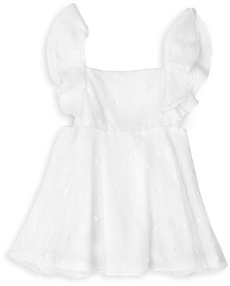 Leah And Rae Little Girl's Embroidered Pinafore Dress