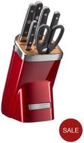 KitchenAid Professional Series 7-piece Micarta Knife Block Set - Candy Apple Red