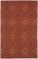 Tribeca Flatweave Red Motif Wool Rug (8' x 10')