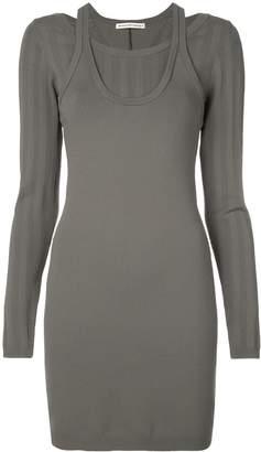 Alexander Wang mesh stripe bi-layer dress