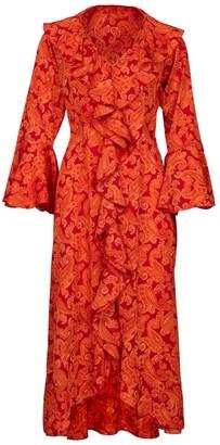 At Last... Felicity Orange Paisley Dress