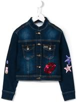 Philipp Plein Lucky One denim jacket - kids - Cotton/Spandex/Elastane - 10 yrs