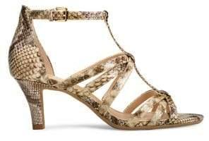 Aerosoles Passionfruit Faux-Leather Heeled Sandals