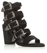Dolce Vita Layell Buckle City Strappy High Heel Sandals