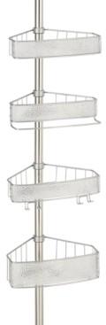 InterDesign Rain 4-Tier Tension Shower Caddy Bedding