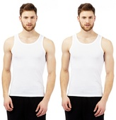 Debenhams Big And Tall Pack Of Two Cotton Mesh Vests