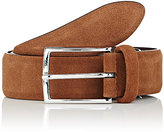 Barneys New York Men's Suede Belt-TAN