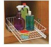 "Knape & Vogt Under Sink Pull Out Basket wire (White) (5""h x 12""w x 18 3/4""d)"