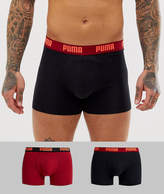 Puma 2 pack boxers in burgundy