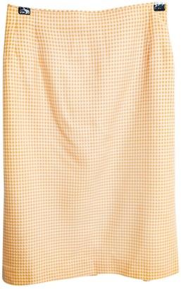 Escada Orange Wool Skirt for Women