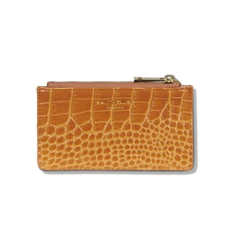 Salthouse England Theadora Leather Card Holder Honey