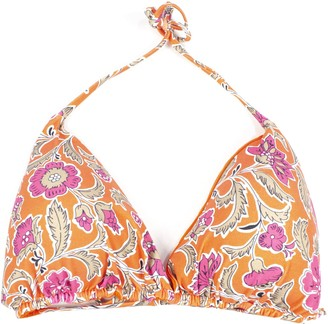 Fisico Cristina Ferrari Orange Stretch Bikini Top