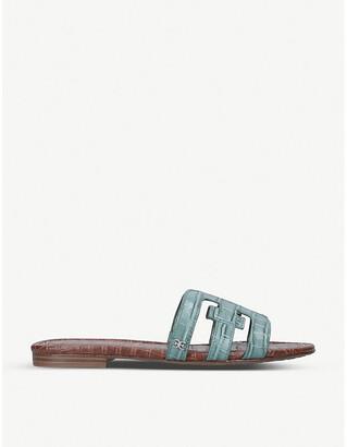Sam Edelman Bay crocodile-embossed leather sandals