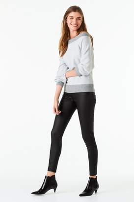 Next Womens Grey Cosy Bardot Top - Grey
