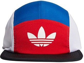adidas Originals Blocked II 5-Panel Cap (Team Royal Blue/Lush Red/White) Caps
