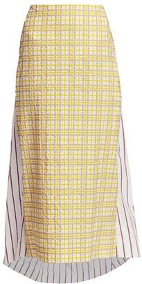 Rosie Assoulin Party In the Back Brocade Peplum Skirt