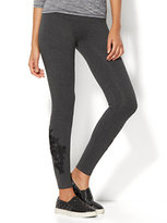 New York & Co. Floral Lace-Accent Legging