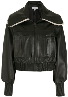 Nk Leather Cropped Jacket
