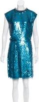 Rachel Roy Sequin Embellished Silk Dress w/ Tags