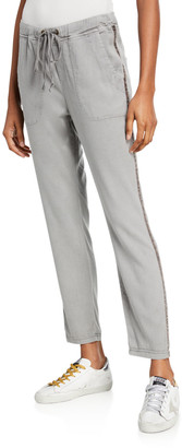 XCVI Dynomite Aloe Twill Pants w/ Tape Trim