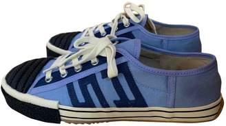 Acne Studios Blue Cloth Trainers