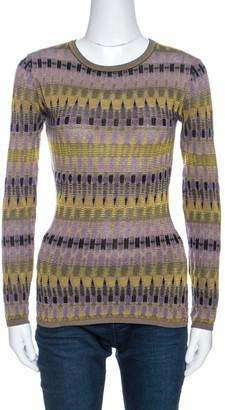 M Missoni Multicolor Knit Long Sleeve Sweater M
