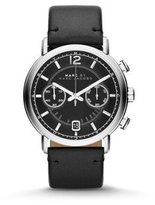 Marc by Marc Jacobs Men's MBM5074 Fergus Stainless Steel Watch with Black Leather Band