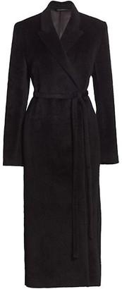 Totême Alpaca & Wool Long Wrap Coat