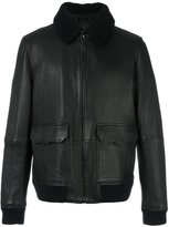 Michael Kors faux fur collar leather jacket