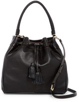 Cole Haan Loveth Leather Double Strap Drawstring Hobo