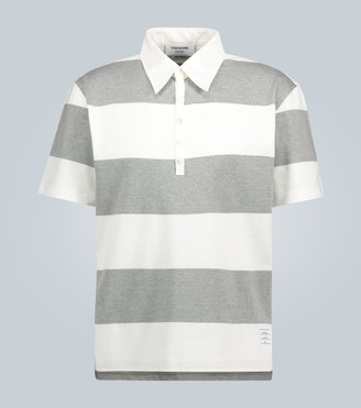 Thom Browne Striped cotton polo shirt