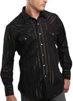 JCPenney Ely Cattleman Metallic-Accent Snap Shirt