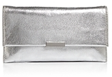 Loeffler Randall Tab Metallic Clutch