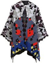Peter Pilotto multi ottoman hooded cape - women - Polyamide/Spandex/Elastane/Angora/Wool - One Size