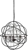 """Creative Co-op Metal Chandelier with Glass Crystals, 24.5"""" Round by 25.5"""" Height"""