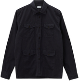 Jigsaw Garment Dyed Military Overshirt, Navy