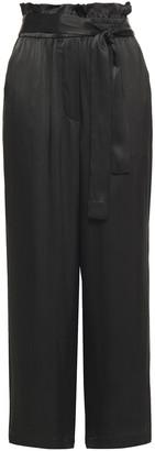 3.1 Phillip Lim Belted Satin-crepe Wide-leg Pants